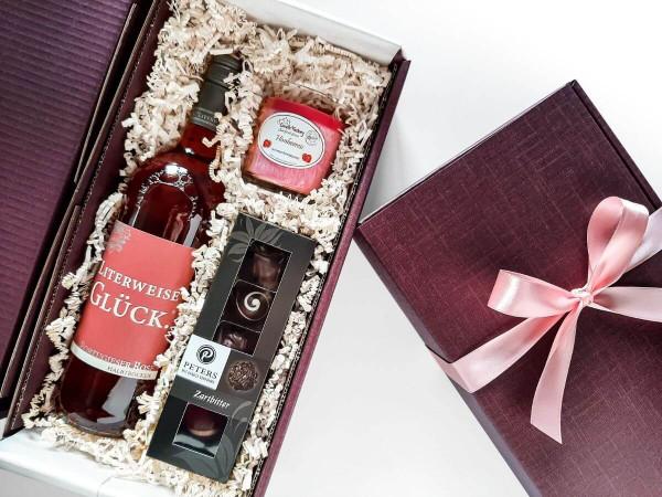 Geschenkbox Frau Glücksmoment