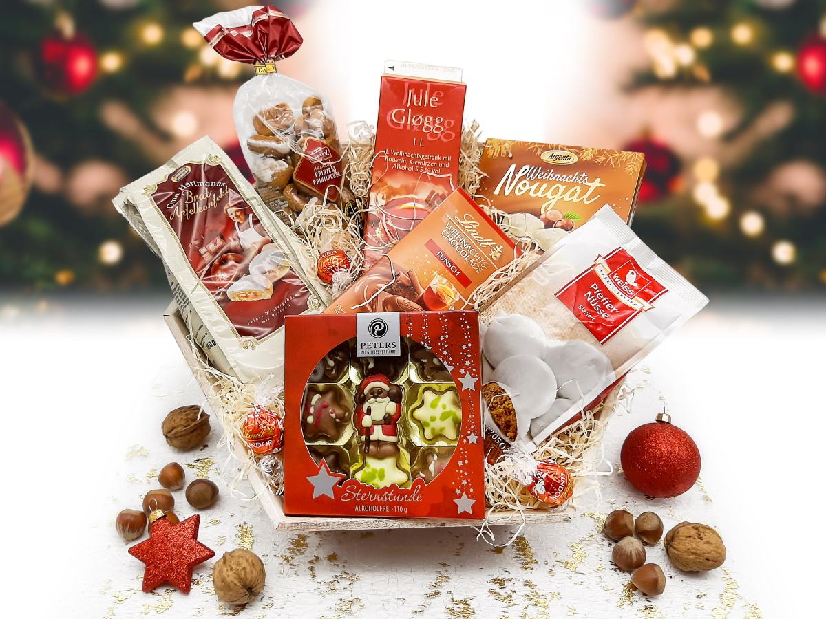 """Großer Weihnachtsgeschenkkorb """"Weihnachtsmarkt"""""""