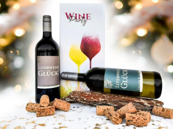 Literweise Glück - Wein Geschenk