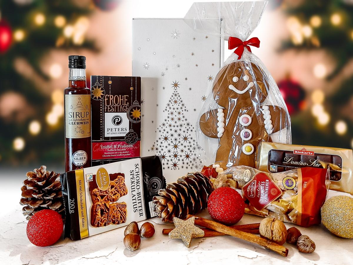 Weihnachtsgeschenkkorb