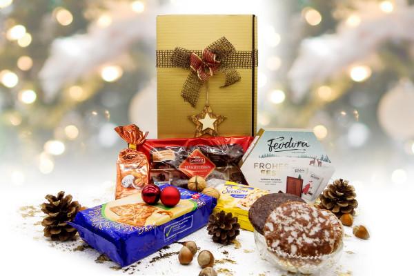 """Weihnachtsgeschenkkorb """"Goldene Weihnacht"""""""